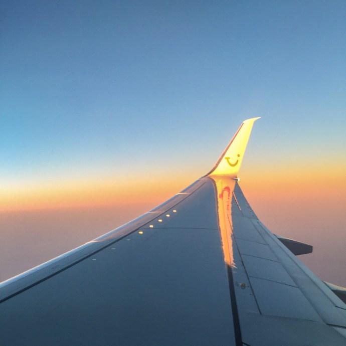 TUIfly WInglet im Sonnenuntergang