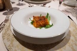 Karotten-Sellerielasagne mit Rucola