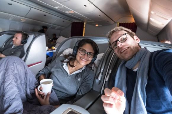 Qatar Airways Business Class - Boeing 777-200LR - Doha - Auckland