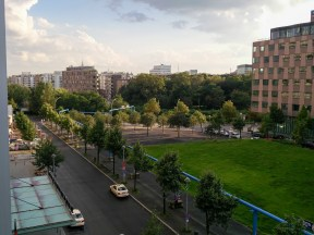 Blick aus dem Zimmer des Scandic Hotels Potsdamer Platz in Berlin