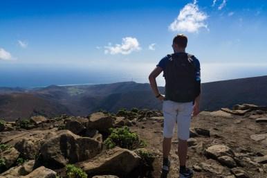 Wanderung Fuerteventura - Von Morro Jable auf den Pico de la Zarza - Blick vom Gipfel