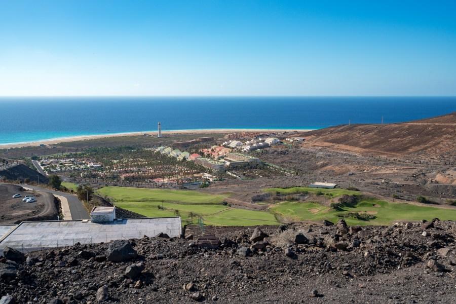 Wanderung Fuerteventura - Von Morro Jable auf den Pico de la Zarza - Faro de Morro Jable am Playa de Jandia