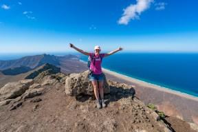 Wanderung Fuerteventura - Von Morro Jable auf den Pico de la Zarza - Gipfel