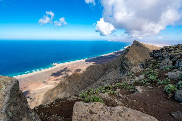 Wanderung Fuerteventura - Von Morro Jable auf den Pico de la Zarza - Blick auf Cofete