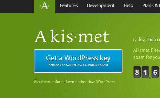 Nhận Khóa Akismet cho trang web WordPress của bạn