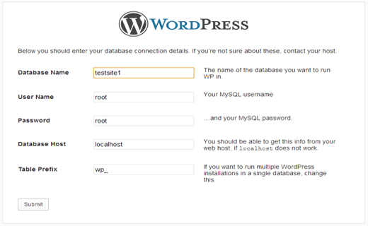 Provide database information in WordPress in MAMP on Mac