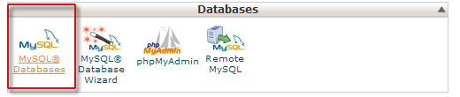 Creating a database using cPanel