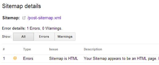 Sitemap 404 Error