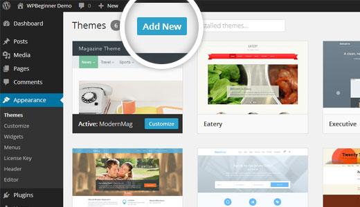 Thêm chủ đề mới trong WordPress