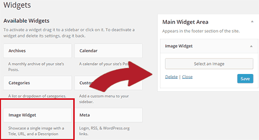 Adding image widget in WordPress sidebar