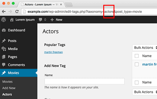 Getting taxonomy key in WordPress