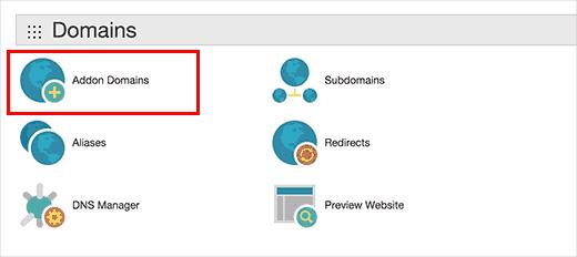 Addon domains in GoDaddy cPanel