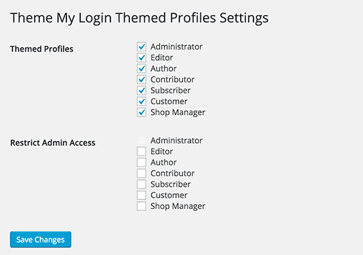 Allow users to edit their profiles in frontend