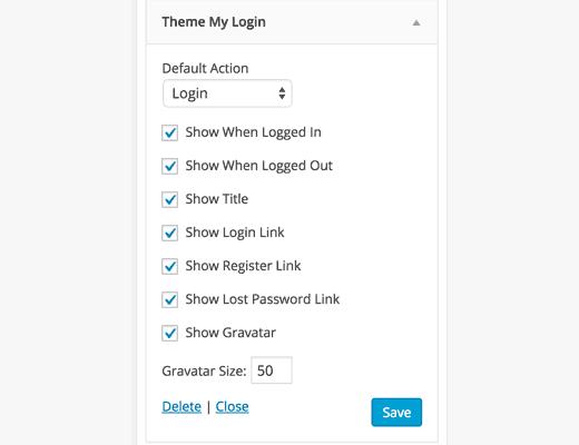 Login dari sidebar frontend di WordPress
