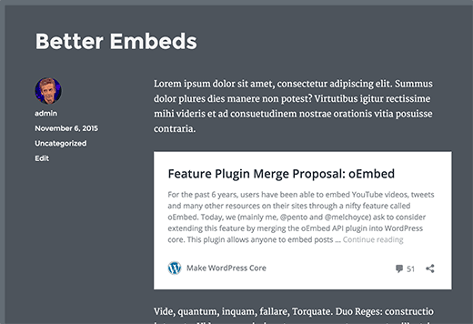 WordPress Embeds