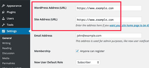 Setting up WordPress to use HTTPS in URLs for a new website