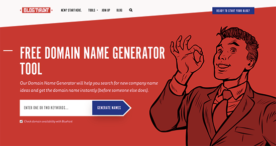 Blogtyrant Blog Name Generator
