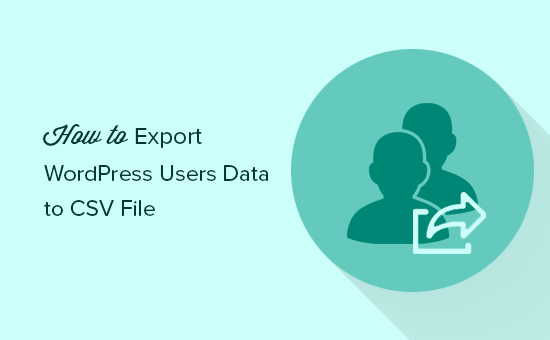 Export WordPress users data to CSV file