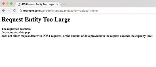 413 request entity too large error example