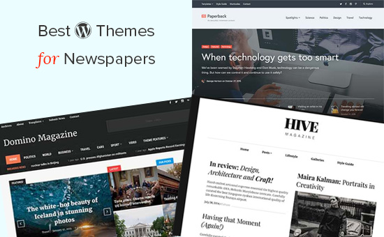 WordPress themes for newspaper websites