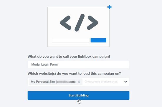 Add campaign name and site