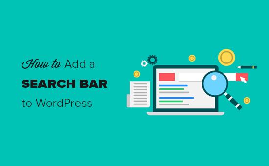 How to add a search bar to WordPress menu