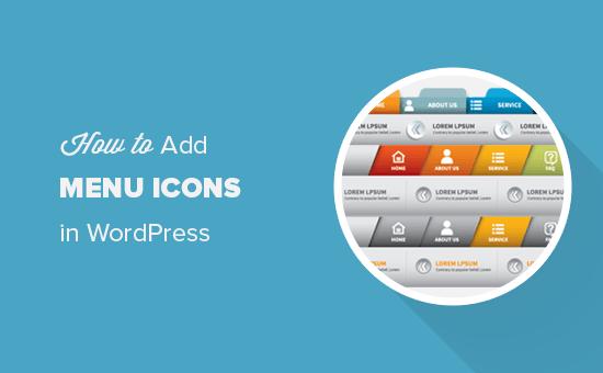 Adding navigation menu icons in WordPress