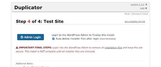 Завершение миграции WordPress на новое доменное имя
