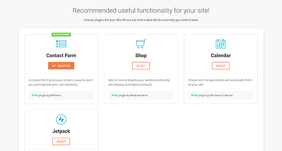 Choose functionality