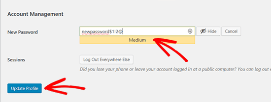Create a Strong WordPress Password and Save it