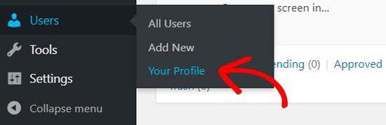Страница вашего профиля в WordPress