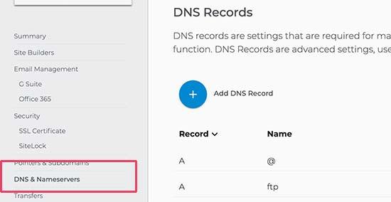 Pengaturan DNS Domain