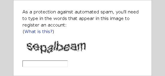 Old style CAPTCHA