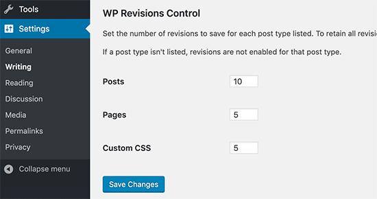 WP Revisions Control