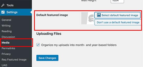 Standaard aanbevolen afbeelding
