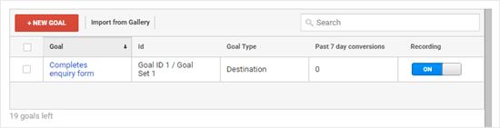 Goals in Google Analytics