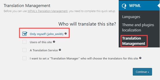Memilih siapa yang akan menerjemahkan konten Anda