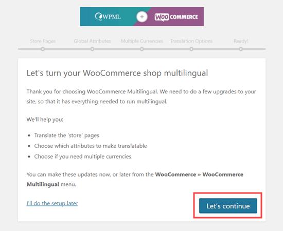 Memulai dengan penyiapan WooCommerce WPML