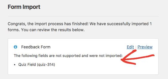 Form Import Problems