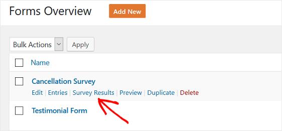 cancellation survey form report