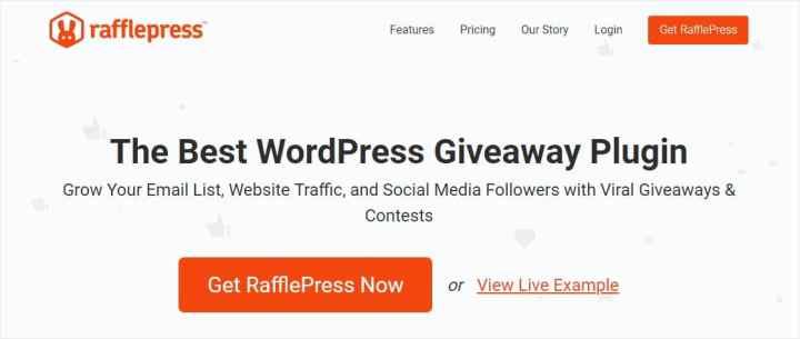 best wordpress giveaway plugin rafflepress