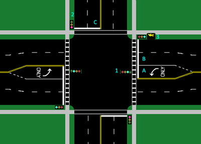 Street Intersection - augmented from image on Wikipedia