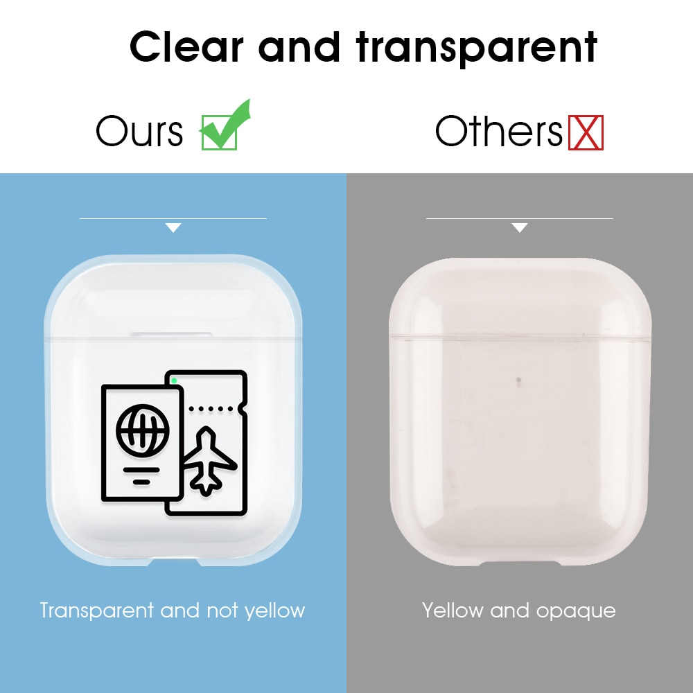 Protective Case for Airpods 1 2 Earphone Case Accessories for Apple Airpods Wireless Charging Case Clear Air Pods Cover Fundas