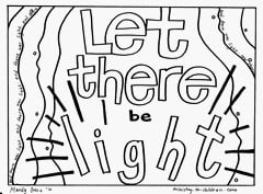 free creation coloring pages quot let there be light quot