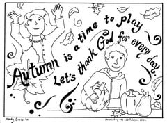 autumn coloring page let 39 s thank god
