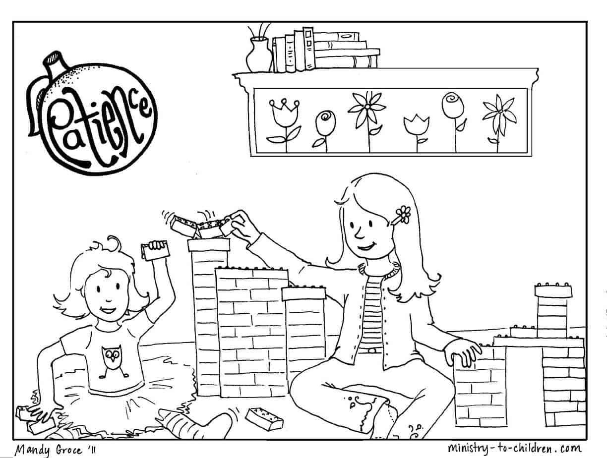 Patience Coloring Page For Kids Free Printable