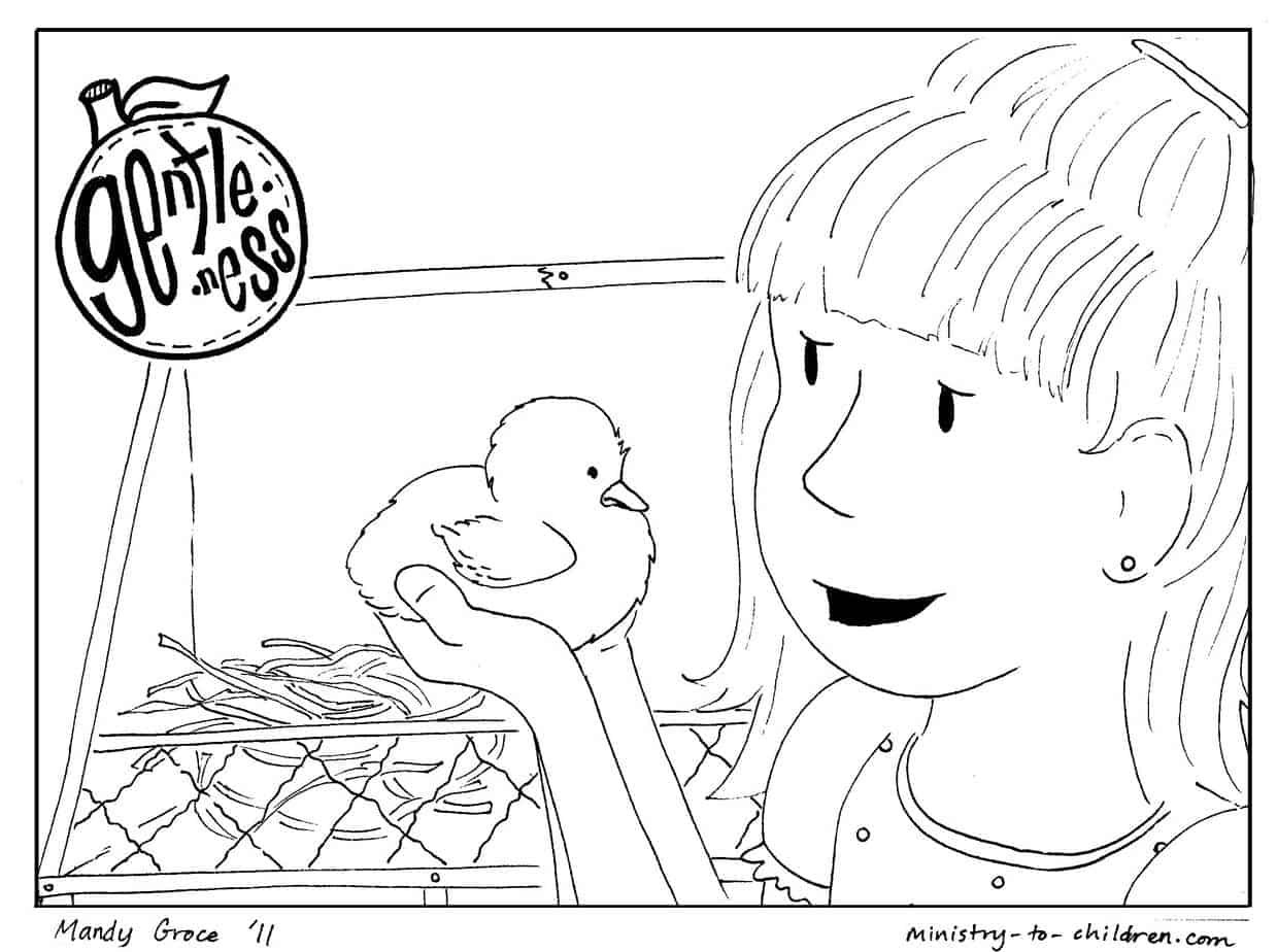 Gentleness Coloring Page For Kids Printable Amp Free