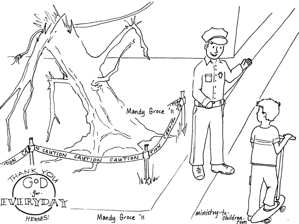 policeman coloring page free printable