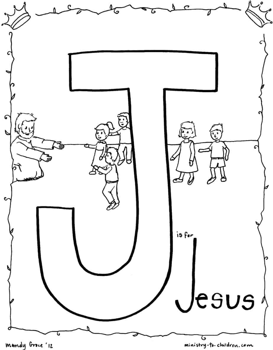 j is for jesus quot coloring page