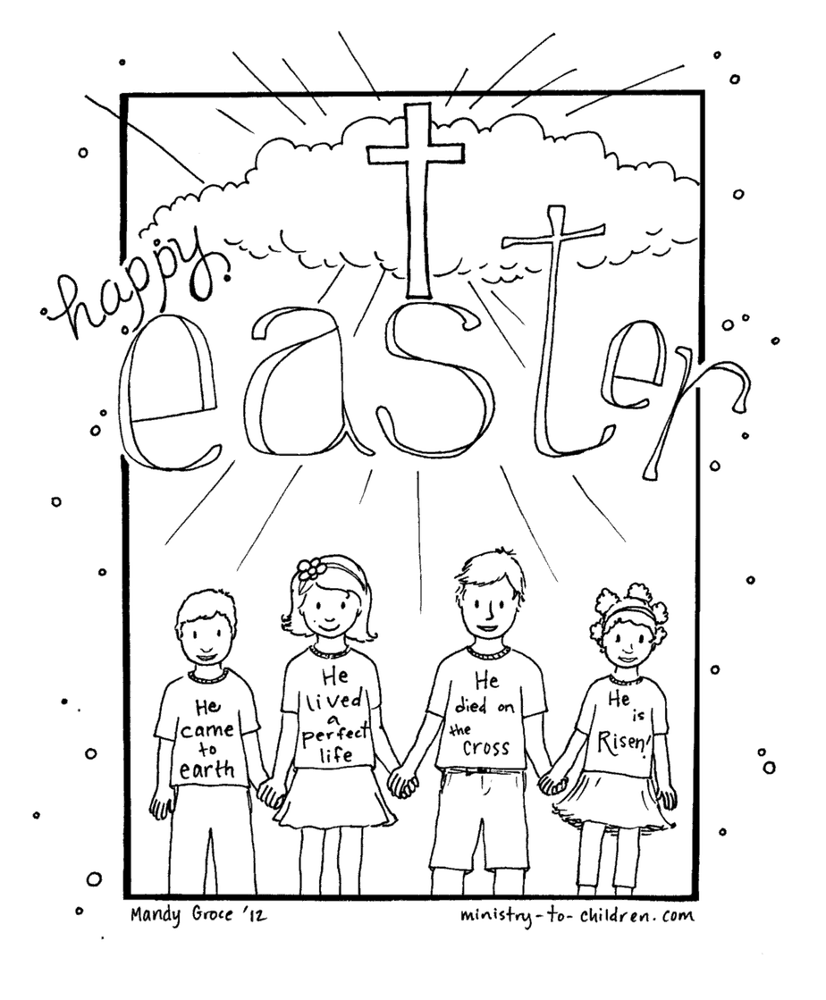 free happy easter coloring sheet